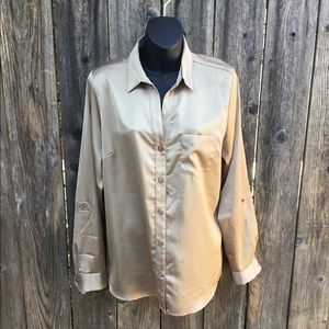 The limited gold button up blouse